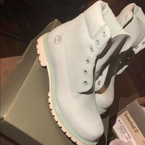 Brand new baby blue timberlands 😍